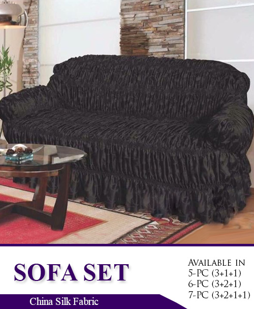 Excellent Sc 112 Black Plain Silk Fabric Sofa Covers Gmtry Best Dining Table And Chair Ideas Images Gmtryco