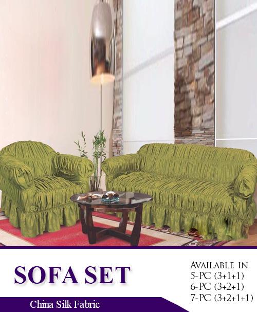 Plain Silk Fabric Sofa Covers