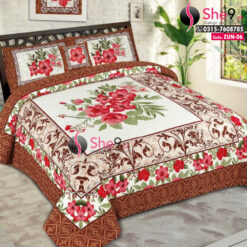3D Brown Bed Sheets