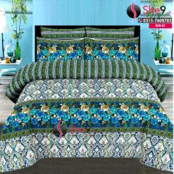Green Printed Bedsheet
