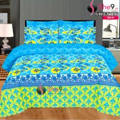 Blue Printed Bedsheet