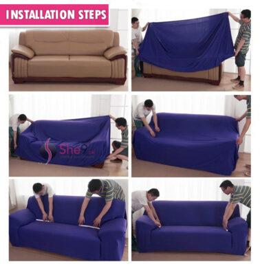 Sofa Cover Installation Steps