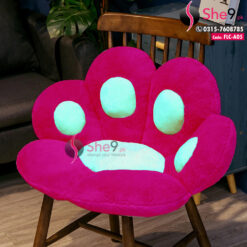 Paw Seat and Floor Cushion in Velvet Fabric